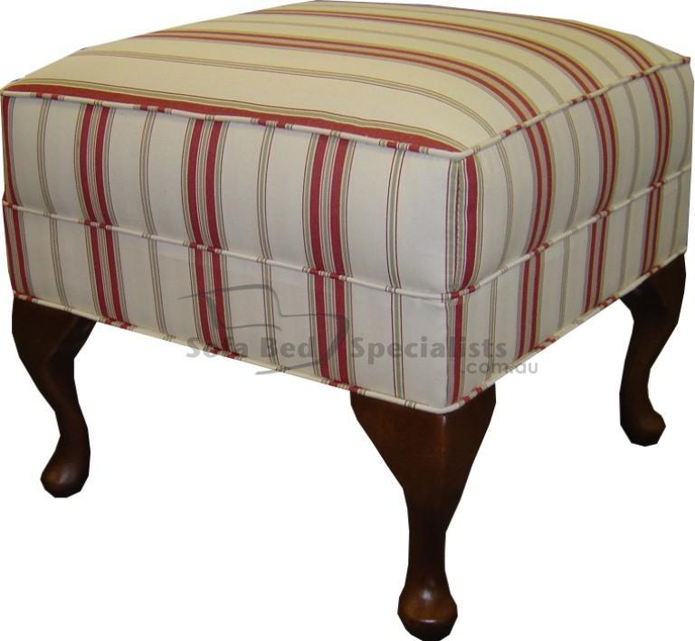 Ottoman with Queen Anne Legs Sofa Bed Specialists