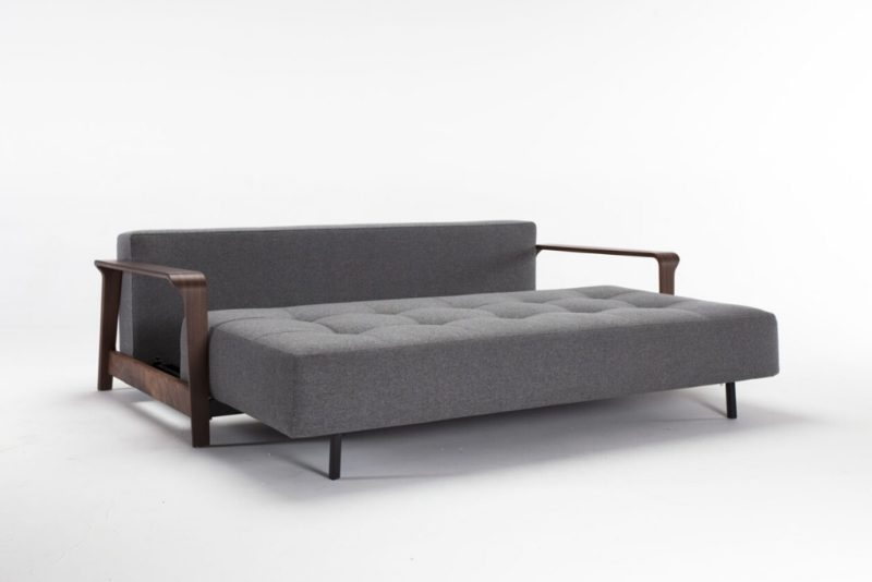 Ran Queen Size Sofa Bed in 563 Twist Charcoal